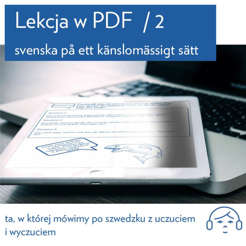 Trzy kwadranse ze szwedzkim kurs Lekcja 2