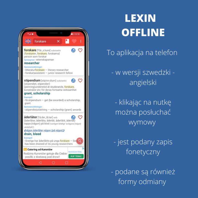 lexin offline, szwedzkie słowniki